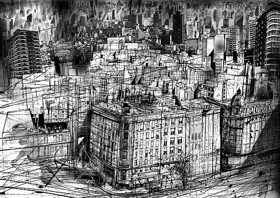 Ciudad ausente - illustrazione di Luis Scafati