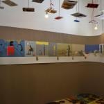 Allestimento della mostra di Guido Scarabottolo