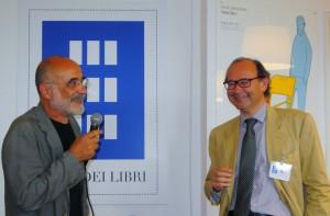 Guido Scarabottolo (a sinistra) con Andrea Kerbaker