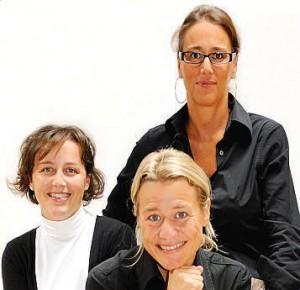 Le sorelle Manfrotto. Da sinistra Veronica, Lorenza e Lavinia