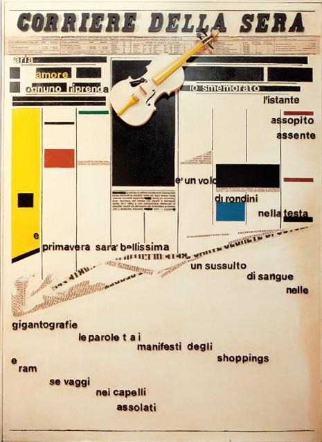 """Pino D'Alfonso, """"Corriere della Sera"""", anni Ottanta, 202,5 x 147,5 cm."""