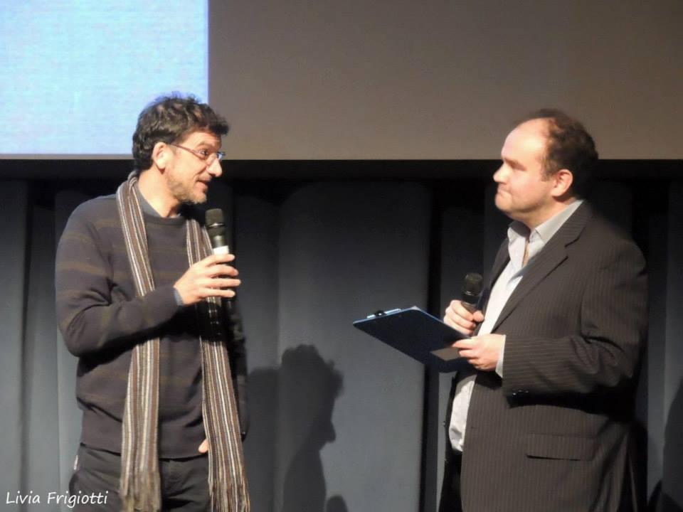 Fabio Stassi e Marco Guerra alla festa della libreria nel 2013
