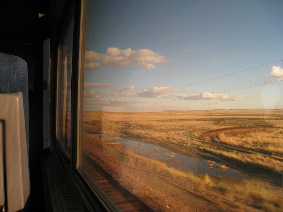Le Grandi Pianure del Nebraska dal treno California Zephyr, che corre da Chicago a San Francisco in 51 ore (foto di Elena Refraschini)